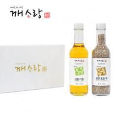 [추석선물세트] 국산 생들기름 170ml 국산 볶은통참깨100g선물세트 쇼핑백 증정