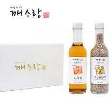 [추석선물세트] 국산 들기름 170ml 국산 볶은통참깨100g선물세트 쇼핑백 증정